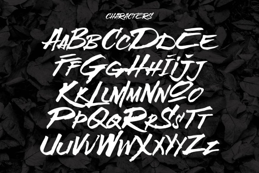Free graffiti fonts: Broken Wings