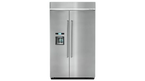 Kitchenaid KBSD608ESS review: image of large silver side by side fridge