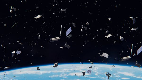How do tiny pieces of space junk cause incredible damage?
