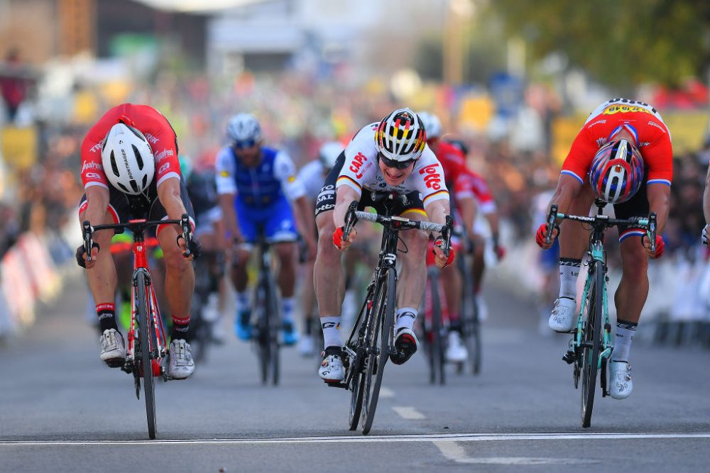 André Greipel wins stage four of the 2017 Volta ao Algarve in a photo finish (Photo by LC/Tim De Waele/Corbis via Getty Images)
