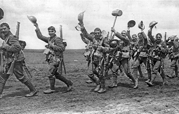 WWI: The Last Tommies. The Worcesters going into action marching and waving their helmets in greeting. The Worcestershire Regiment was an infantry regiment of the line in the British Army, formed in 1881. In the First World War the Regiment saw action in the retreat from Mons,