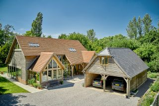 timber house cladding has been used on this rural self build