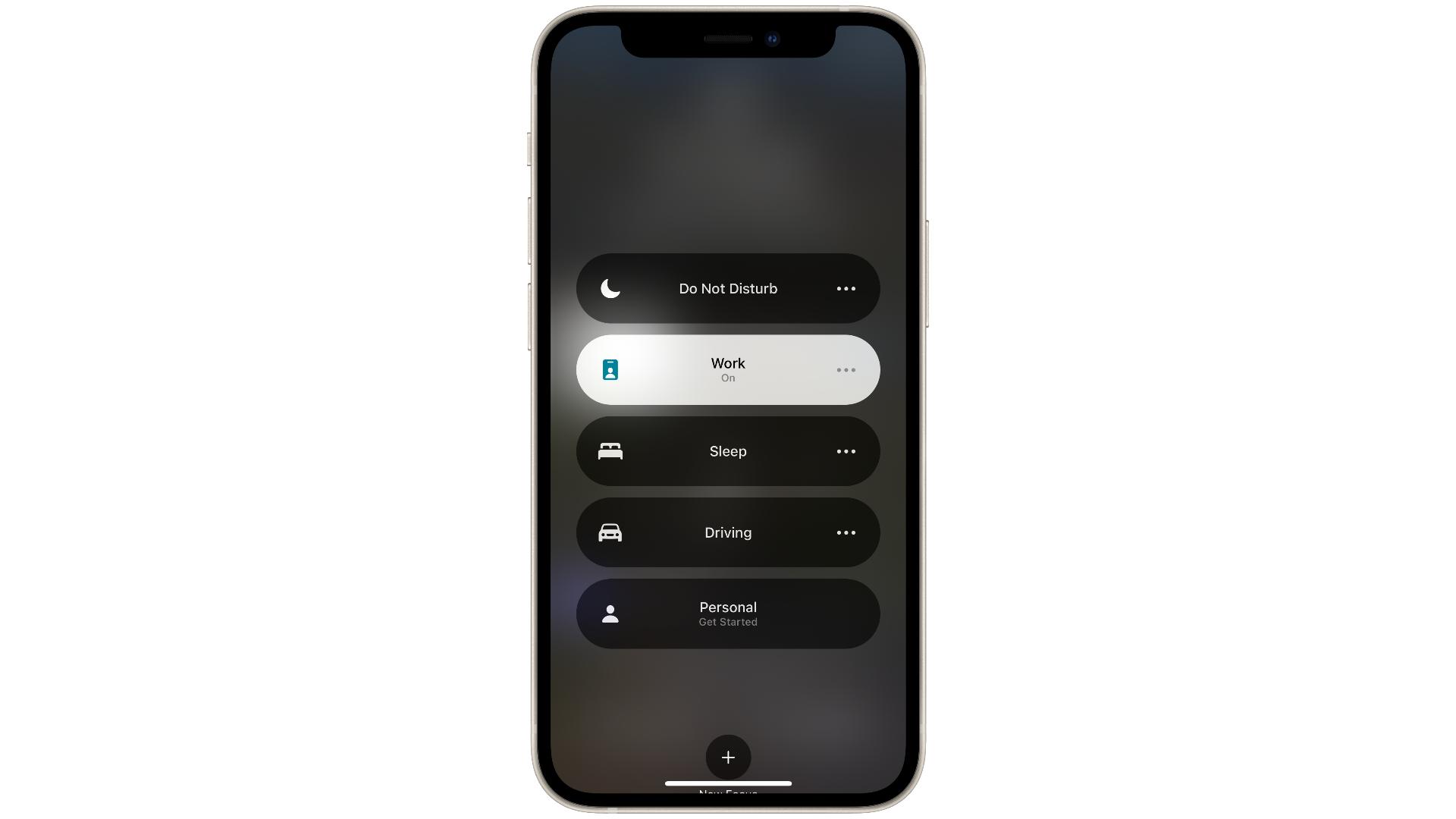 Focus settings in iOS 15