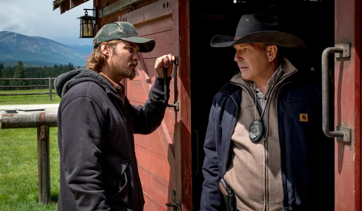Yellowstone Kayce Dutton Luke Grimes John Dutton Kevin Costner Paramount Network