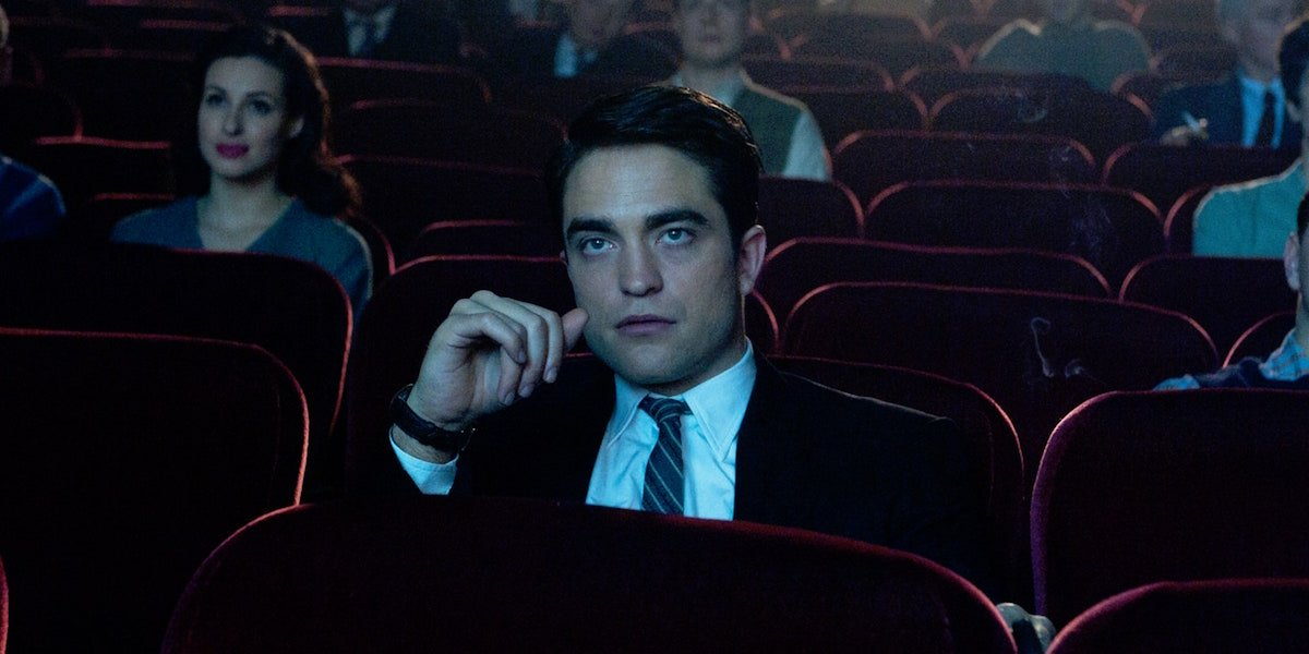 Robert Pattinson in movie theater