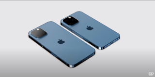 Design mockups of iPhone 13 models