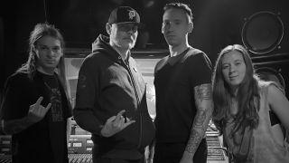 "[L-R] Eric ""Shade"" Balderose, Billy Corgan, Jami Morgan and Reba Meyers"