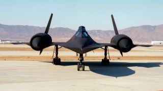The SR-71 Blackbird spy plane.