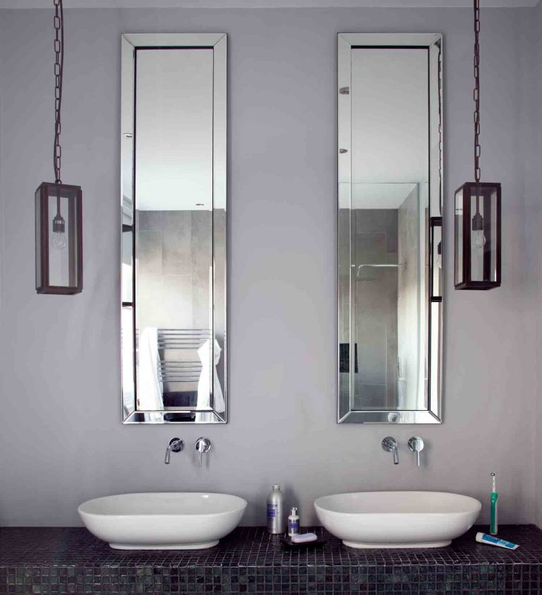 His And Hers Double Basin Vanity Bathroom Sink Ideas