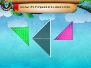 Interactive Puzzles Teach Early Geometry Concepts