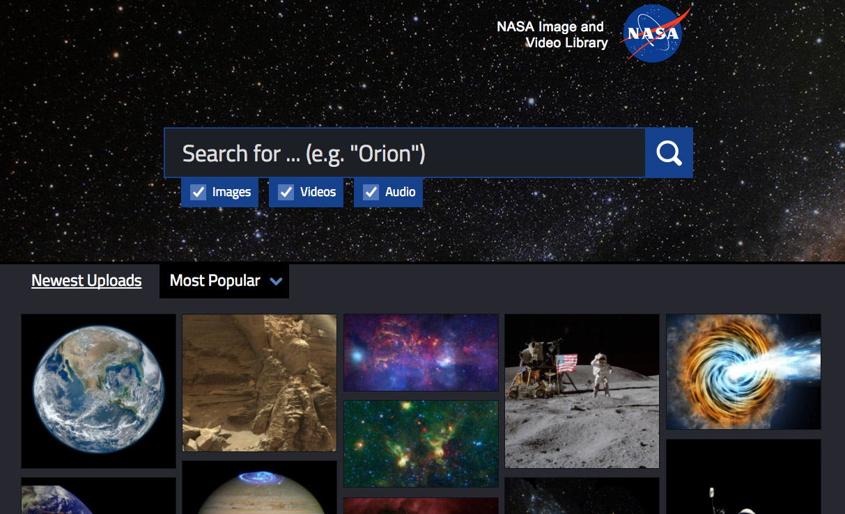 NASA Launches Massive Digital Library for Space Video, Photos