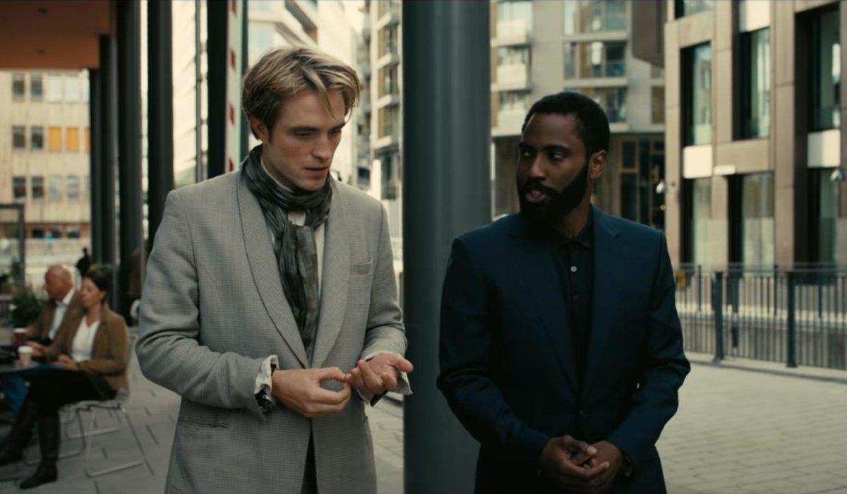 Tenet Robert Pattinson and John David Washington walk and talk