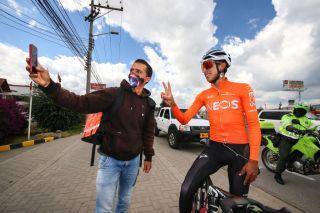Egan Bernal training in Colombia