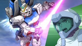 An image of a Mobile Suit Gundam character in Super Robot Wars 30.