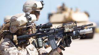 Image of Marines at MCAS Miramar base.