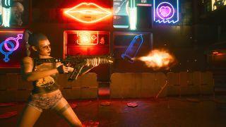 A cyberpunk opens fire