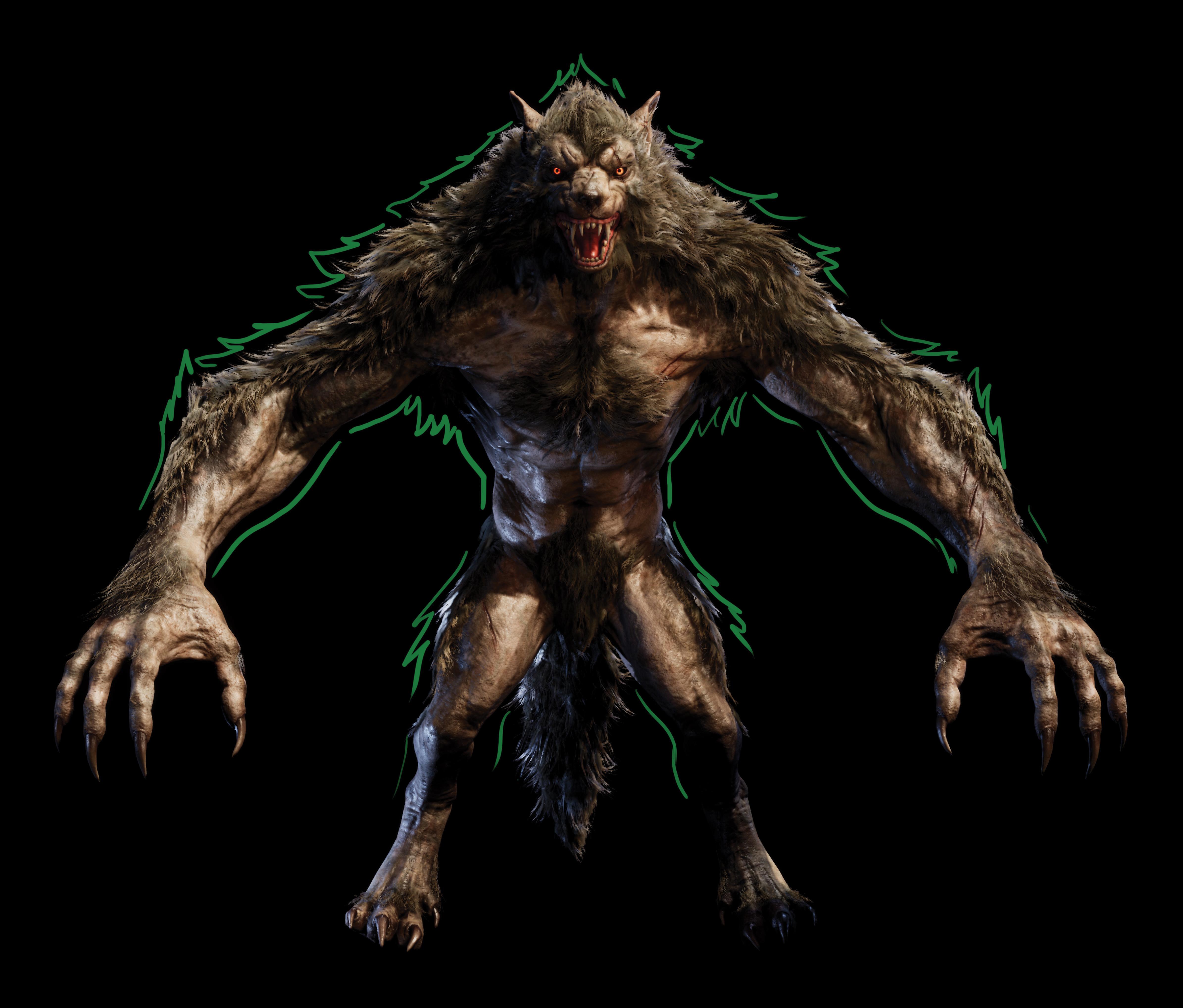 Finished 3D model of werewolf