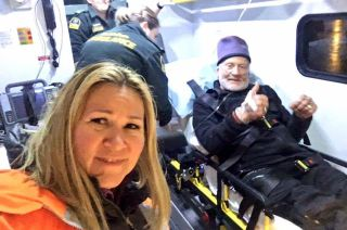 Buzz Aldrin evacuated from the South Pole