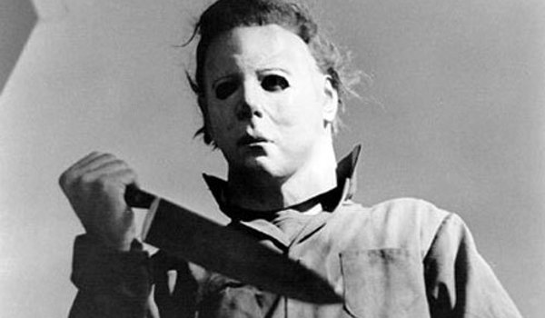 Halloween (1978) Michael Myers stands with his trusty knife
