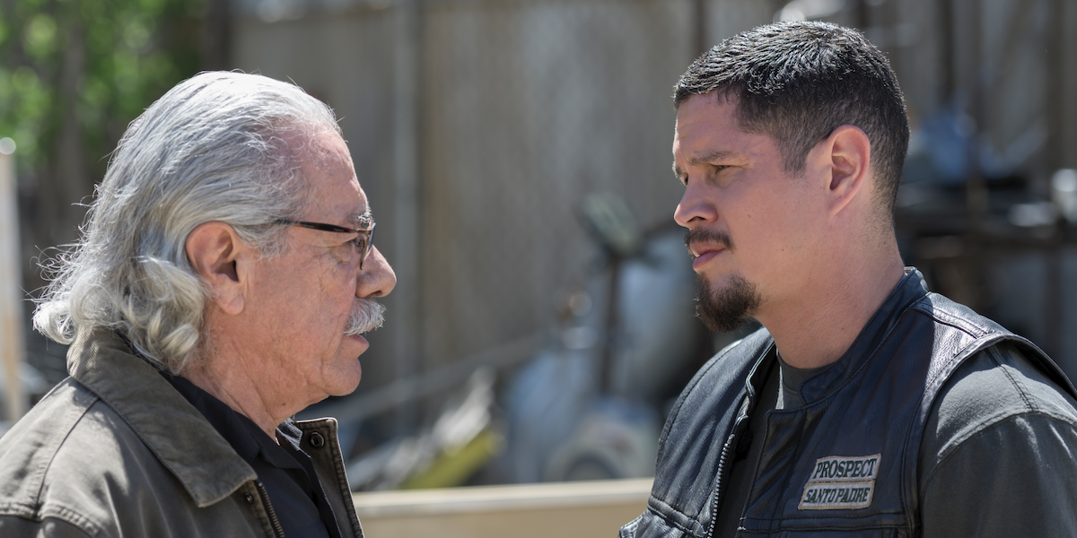 e.z. and felipe talking on mayans m.c.