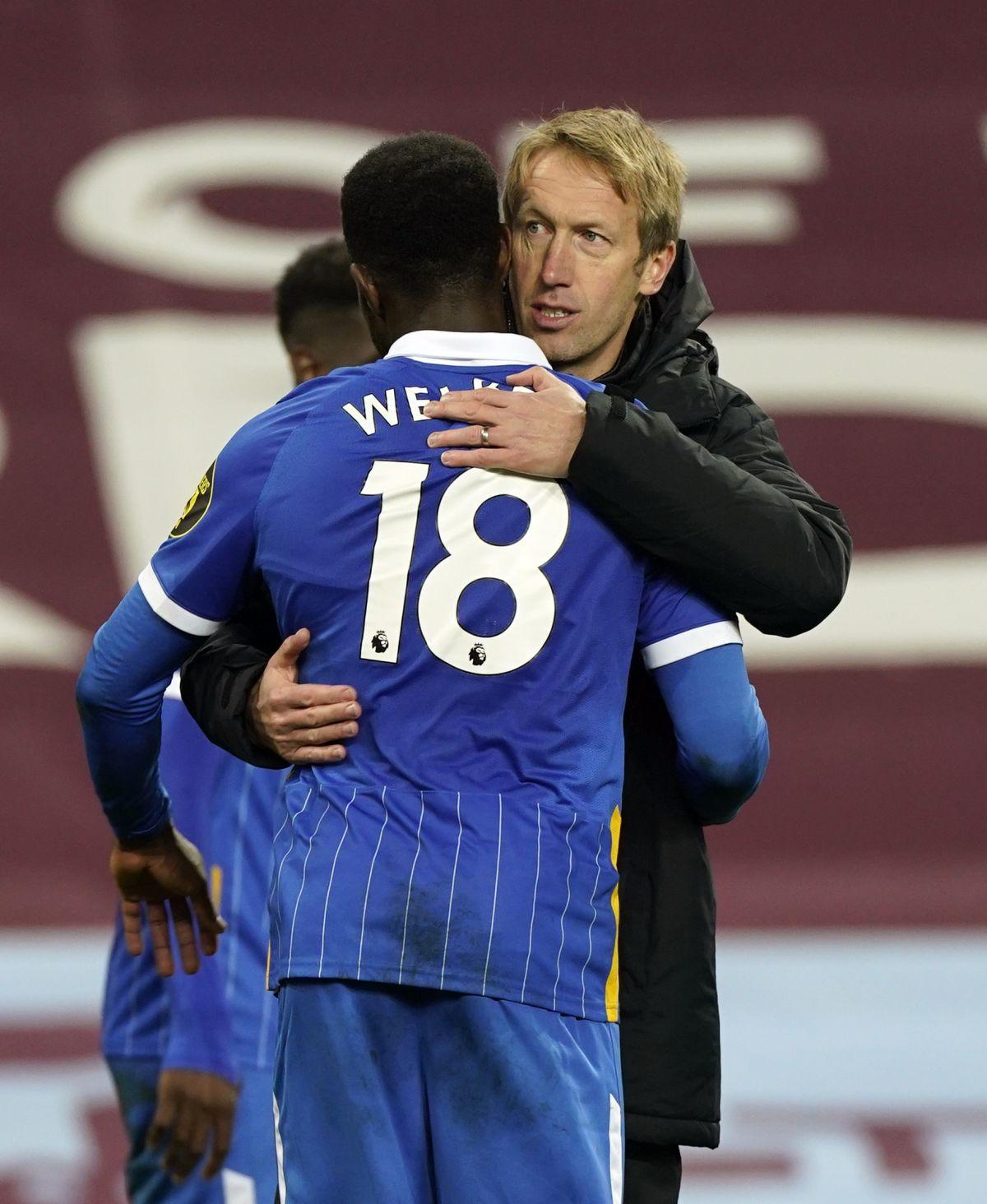 Graham Potter hoping to keep Danny Welbeck at Brighton