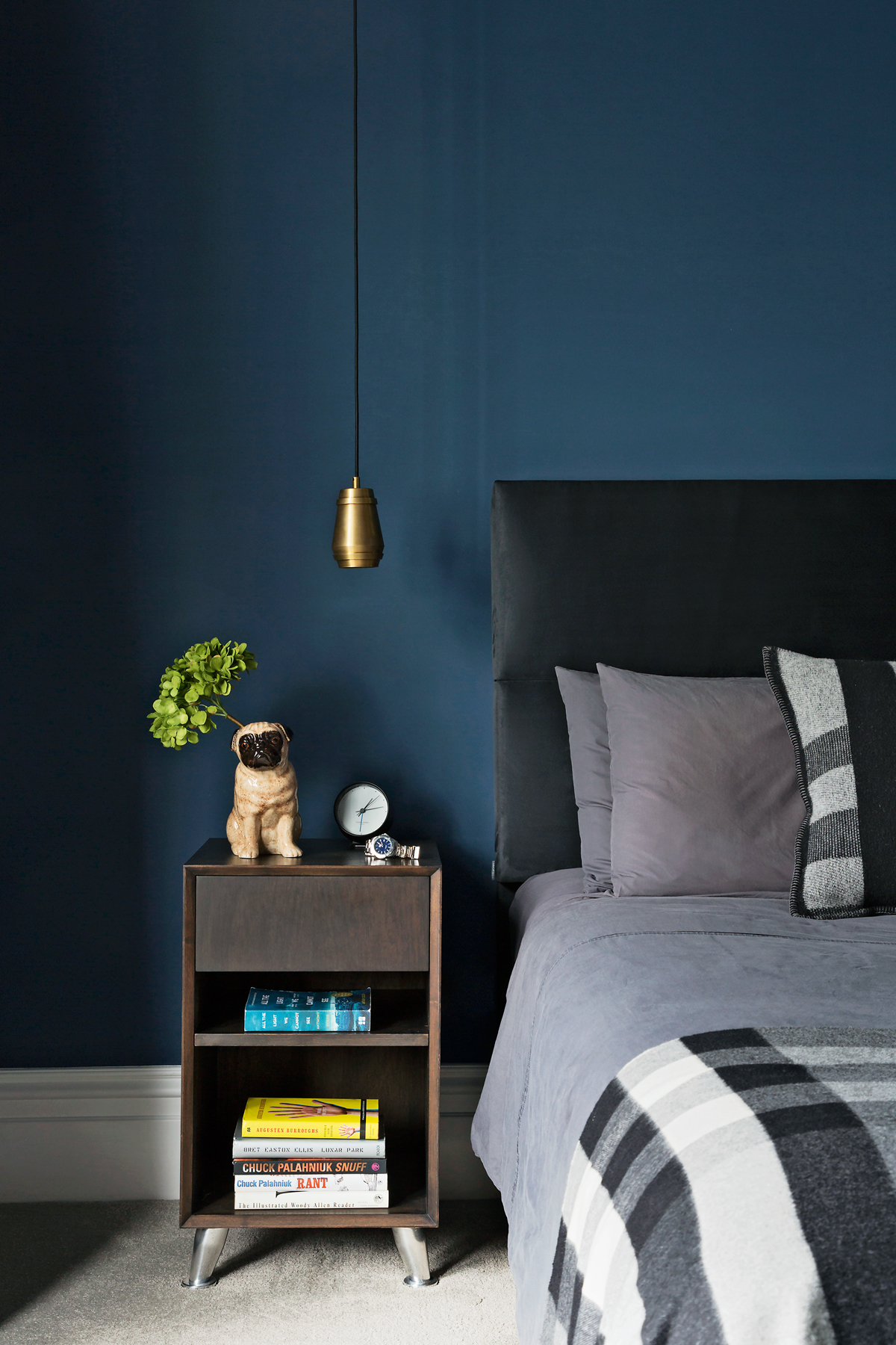 marvellous dark blue bedroom | Explore A Stunning Four-Storey Victorian End-of-Terrace in ...