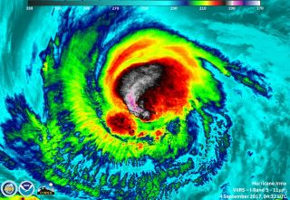 Satellite image of Hurricane Irma taken on Sept. 4, 2017, when the storm was a Category 3.