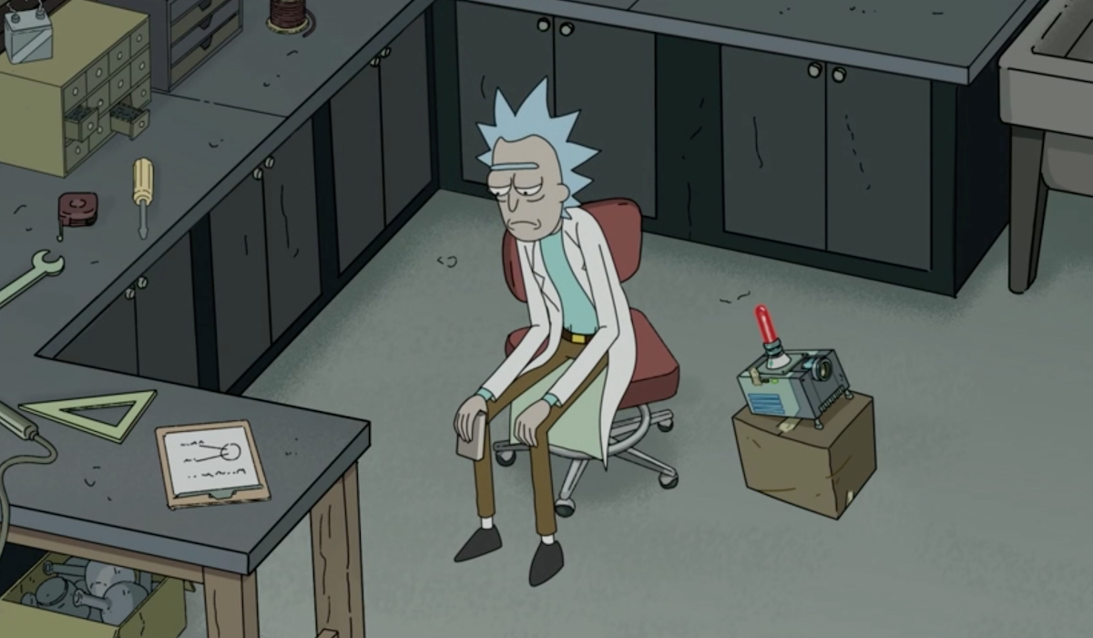 rick all alone at the end of rick and morty finale