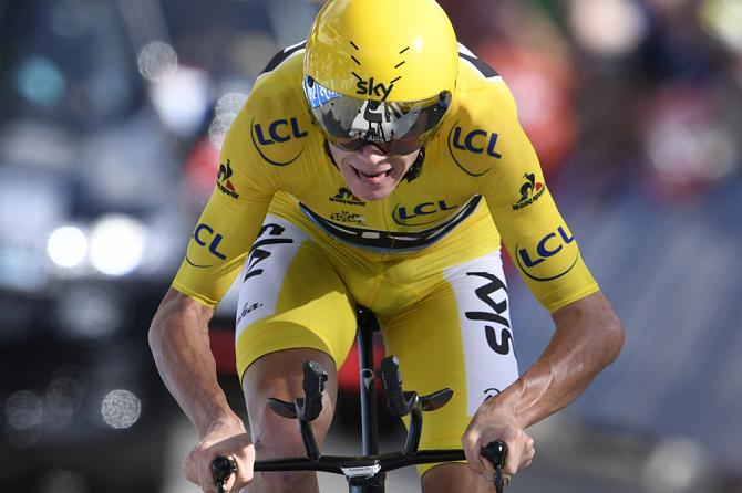 Chris Froome (Sky) heads for another stage win