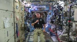 NASA astronaut Shane Kimbrough, Expedition 50 mission commander and a retired U.S. Army Colonel, pays tribute to U.S. service members in a new video message recorded on the International Space Station.