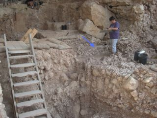 Qesem cave being excavated