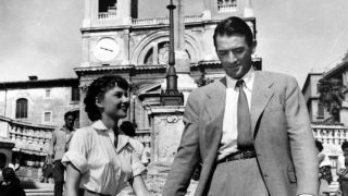 Audrey Hepburn and Gregory Peck star in William Wyler's 'Roman Holiday'.