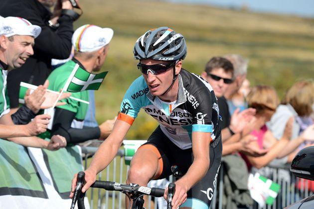 Liam Holohan on Haytor, Tour of Britain 2013, stage six