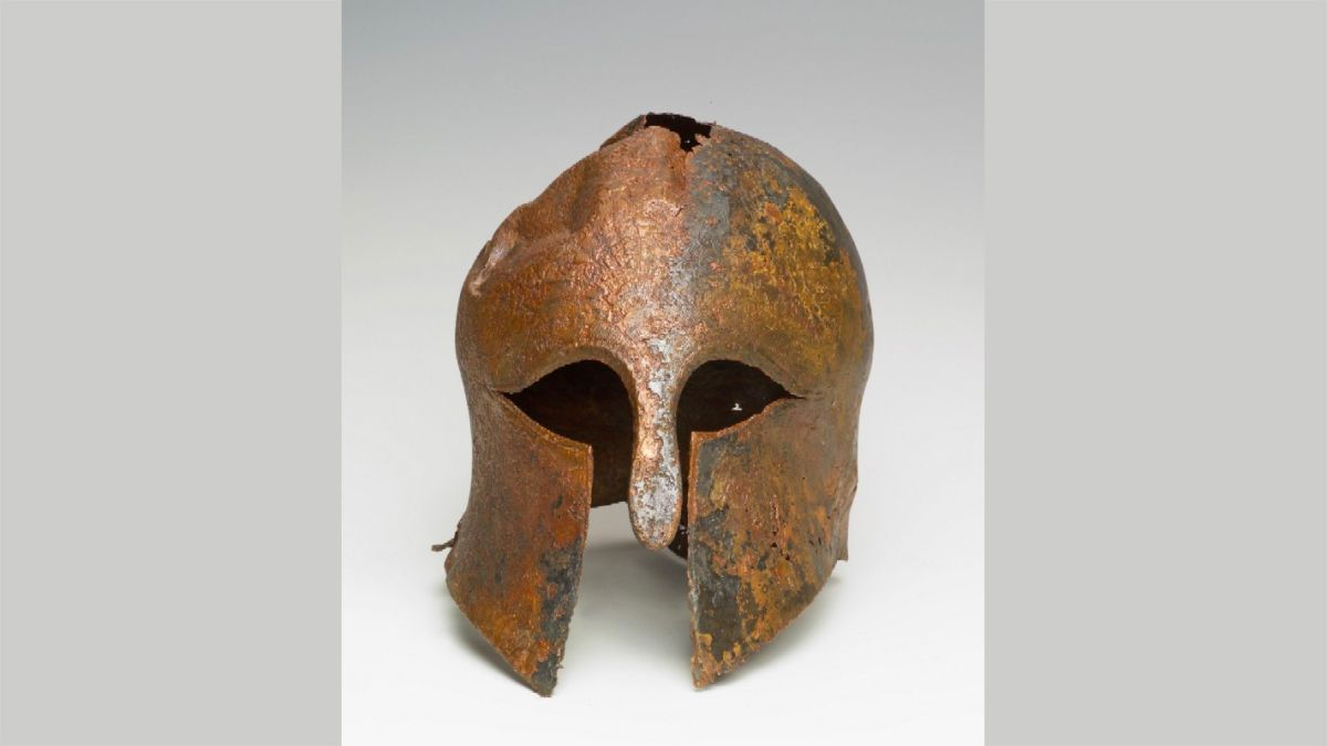 Ancient helmet worn by soldier in the Greek-Persian wars found in Israel