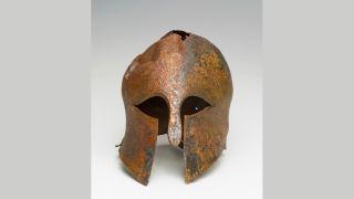 Bronze helmet dates to Greek-Persian wars.
