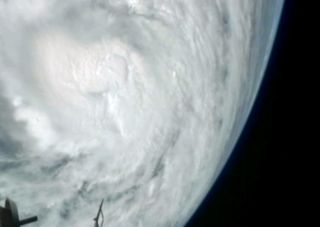 This still from a NASA video shows a view of Hurricane Sandy on Thursday, Oct. 25, as the Category 2 storm approached the Bahamas. The video was taken by cameras aboard the International Space Station 240 miles above Earth.