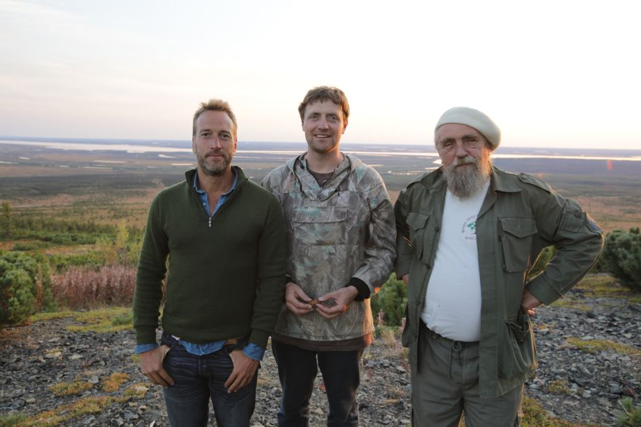 Ben, Nikita and Sergey in Ben Fogle: New Lives in the Wild