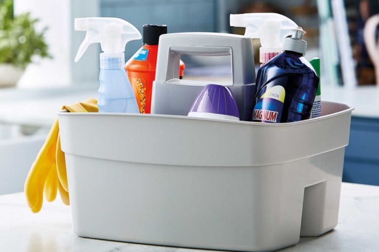 Aldi kitchen cleaning caddy