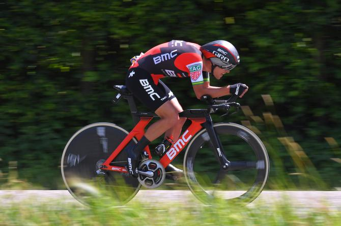 Richie Porte en route to victory in the fourth stage of the Critérium du Dauphiné