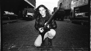 Portrait of Death's Chuck Schuldiner in 1995