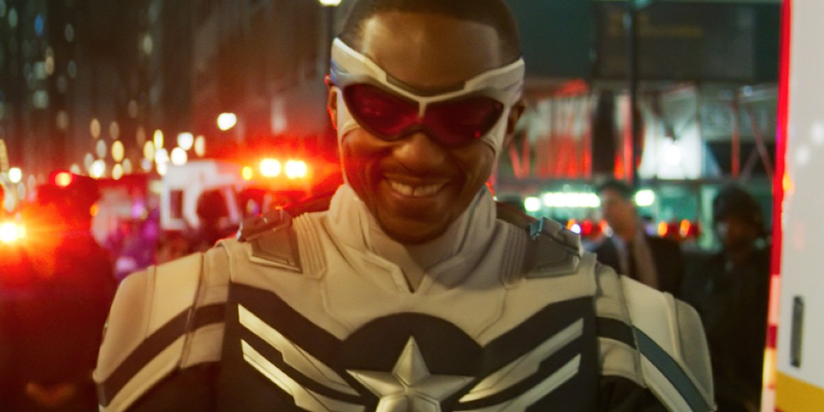 Sam Wilson in his Captain America suit in The Falcon and the Winter Soldier.