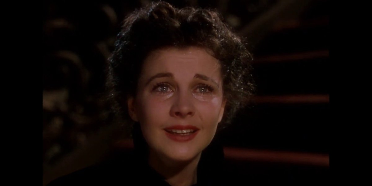 Gone With The Wind Vivian Leigh crying on the staircase