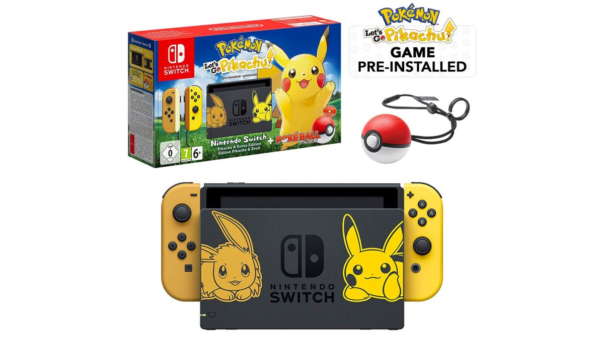 Move fast! Limited Edition Pokemon Let's Go Pikachu Edition console, with game and Poke Ball Plus is only £339 on Amazon