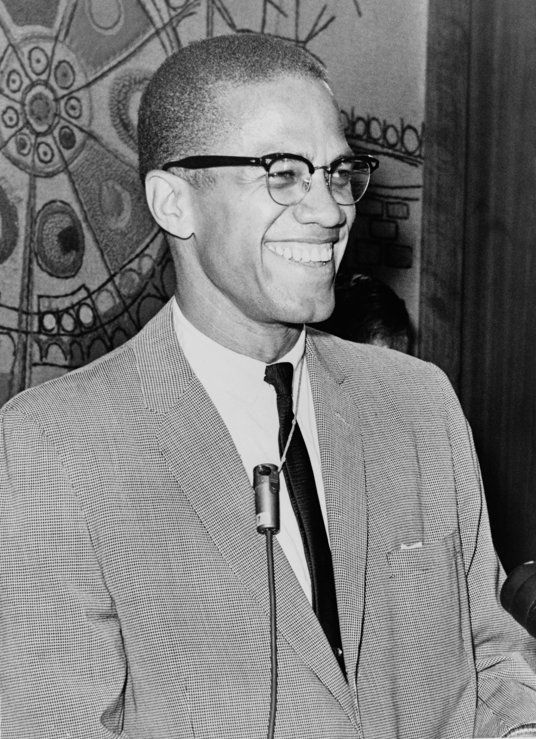 Malcolm X pictured in 1964.