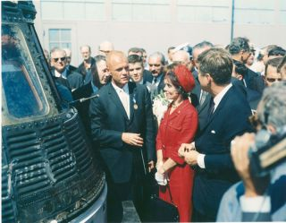 John Glenn With JFK After Historic Flight