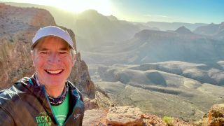 Paul Hooge takes a break on the South Kaibab Trail