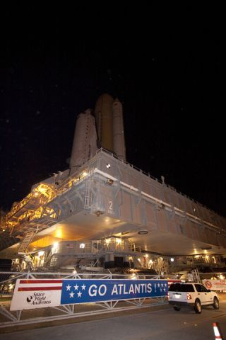 Atlantis at the launch pad