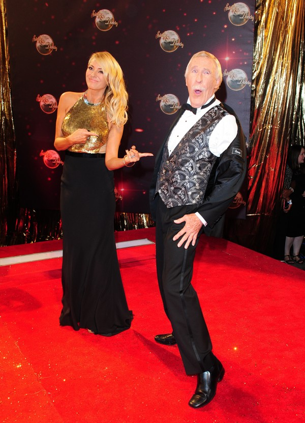 Sir Bruce Forsyth and Tess Daly (Ian West/PA Archive/PA Images)