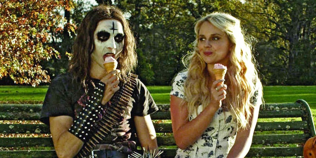 Milo Cawthorne and Kimberley Crossman in Deathgasm
