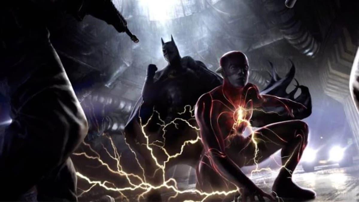 Michael Keaton's Batman and Ezra Miller's Flash